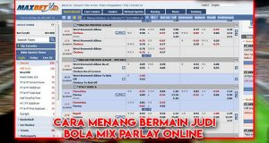 Tips Menang Judi Bola Mix Parlay